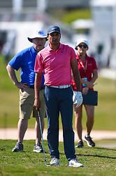 March 21, 2018 - Austin, TX, U.S. - AUSTIN, TX - MARCH 21: Julian Suri looks toward the green during the First Round of the WGC-Dell Technologies Match Play on March 21, 2018 at Austin Country Club in Austin, TX. (Photo by Daniel Dunn/Icon Sportswire) (Credit Image: © Daniel Dunn/Icon SMI via ZUMA Press)