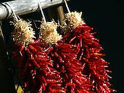 Three chile ristras for sale, Santa Fe, New Mexico.
