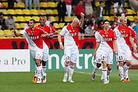 FOOTBALL - FRENCH CHAMPIONSHIP 2010/2011 - L1 - AS MONACO v PARIS SAINT GERMAIN - 7/05/2011 - PHOTO PHILIPPE LAURENSON / DPPI - JOY PEREIRA DA SILVA ADRIANO (ASM) AFTER HIS GOAL