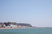 Views of Hastings seafront on the 20th April 2019 in Hastings in the United Kingdom. Hastings is a town on England's southeast coast, its known for the 1066 Battle of Hastings.