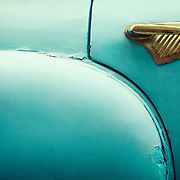 An abstract detail of a vintage Cuban car.<br />