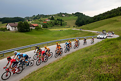 Piotr BROZYNA of HRE MAZOWSZE SERCE (L) during 1st Stage of 27th Tour of Slovenia 2021 cycling race between Ptuj and Rogaska Slatina (151,5 km), on June 9, 2021 in Slovenia. Photo by Vid Ponikvar / Sportida