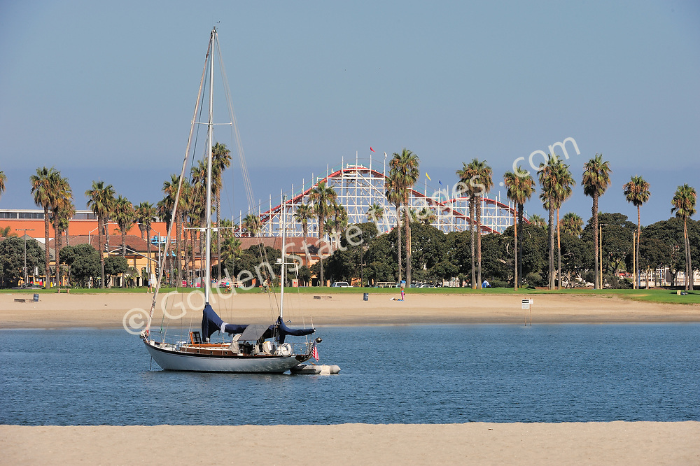 Belmont Park Giant Dipper Roller Coaster can be seen in the background.