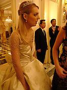 Kari Schlegel, Crillon Debutante Ball. Getting ready. Crillon Hotel. Paris. 26 November 2004. ONE TIME USE ONLY - DO NOT ARCHIVE  © Copyright Photograph by Dafydd Jones 66 Stockwell Park Rd. London SW9 0DA Tel 020 7733 0108 www.dafjones.com