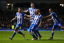 Goal, Bruno Saltor of Brighton & Hove Albion scores, Brighton & Hove Albion 3-0 Fulham - Mandatory byline: Jason Brown/JMP - 07966 386802 - 15/04/2016 - FOOTBALL - American Express Community Stadium - Brighton,  England - Brighton & Hove Albion v Fulham - Championship