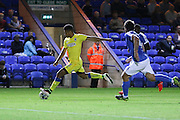 AFC Wimbledon striker Lyle Taylor (33) during the EFL Cup match between Peterborough United and AFC Wimbledon at ABAX Stadium, Peterborough, England on 9 August 2016. Photo by Stuart Butcher.