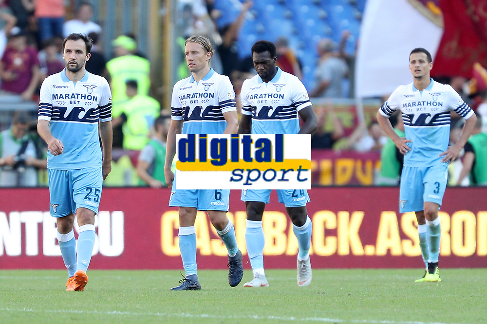 Delusione Lazio<br />Dejection Lazio<br />Roma 28-09-2018 Stadio Olimpico Football Calcio Serie A 2018/2019 AS Roma - Lazio Foto Luca Pagliaricci / Insidefoto