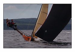 The 2004 Skiff Nationals at Largs held by the SSI.<br /> <br /> Onica helmed by Alistair Kinsmen<br /> <br /> <br /> Marc Turner / PFM Pictures