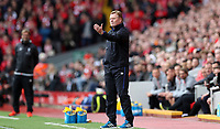 Football - 2016 / 2017 Premier League - Liverpool vs. Everton<br /> <br /> Everton manager Ronald Koeman during the match at Anfield.<br /> <br /> COLORSPORT/LYNNE CAMERON