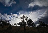 Desert sky over Cline Butte near Redmond, Oregon.