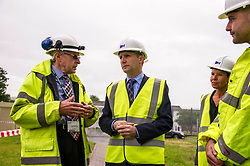 "Pictured: Contractor John  McArthur (left) and Mark Breen from Scottish Prisons Service Estates and technical services (Right) discussed the demolition with the Minister and Govenor Caroline Johnstone<br /> Justice Secretary Michael Matheson joined governor Caroline Johnstone to mark the start of demolition of Corton Vale Prison today. Cornton Vale is a women's prison in Stirling, operated by the Scottish Prison Service. Built in 1975, Cornton Vale comprises a total of 217 cells in its 5 houses. Ministers decided to close the prison after former Lord Advocate Elish Angiolini warned it was ""not fit for purpose"".<br />  <br /> Ger Harley 