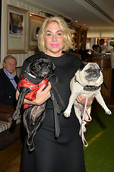 BRIX SMITH START and her dogs Gladys and Pixie at A Date With Your Dog At George in aid of the Dogs Trust held at George, 87-88 Mount Street, London on 9th September 2014.