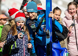 Jurij Tepes (SLO) with fans during the Trial Round of the Ski Flying Hill Individual Competition at Day 1 of FIS Ski Jumping World Cup Final 2019, on March 21, 2019 in Planica, Slovenia. Photo by Vid Ponikvar / Sportida