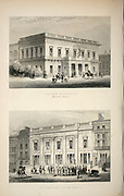The New Antheneum (Waterloo Place) [Top] Crockford's Club House [Bottom] London From the book Illustrated London, or a series of views in the British metropolis and its vicinity, engraved by Albert Henry Payne, from original drawings. The historical, topographical and miscellanious notices by Bicknell, W. I; Payne, A. H. (Albert Henry), 1812-1902 Published in London in 1846 by E.T. Brain & Co