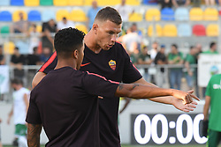 July 20, 2018 - Frosinone, Lazio, Italy - Edin Dzeko and Justin Kluivert during the Pre-Season Friendly match between AS Roma and Avellino at Stadio Benito Stirpe on July 20, 2018 in Frosinone, Italy. (Credit Image: © Silvia Lore/NurPhoto via ZUMA Press)