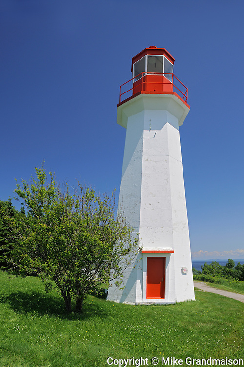 lighthouse on Gulf of St. Lawrence<br /> Cap-de-Bon-Désir<br /> Quebec<br /> Canada