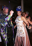Marquess of Bath, Trudi Sharma dancing. Mr. and Mrs. Andy Wong Chinese Year of the Dragon. Millenium Dome. 29/1/2000.<br />© Copyright Photograph by Dafydd Jones<br />66 Stockwell Park Rd. London SW9 0DA<br />Tel 0171 733 0108. wwwdafjones.com