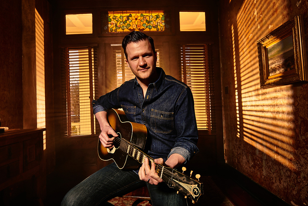 Country musician Michael Logen in his home in Nashville, TN