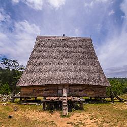 Ethnic Rong house near Kon Tum near the village of Kon Klor
