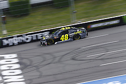 June 1, 2018 - Long Pond, Pennsylvania, United States of America - Jimmie Johnson (48) brings his car down the frontstretch during qualifying for the Pocono 400 at Pocono Raceway in Long Pond, Pennsylvania. (Credit Image: © Chris Owens Asp Inc/ASP via ZUMA Wire)