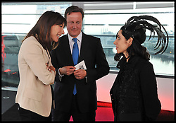 British Prime Minister David Cameron with wife and singer during Conservative Party Conference, Manchester, UK, October 4, 2011. Photo By Andrew Parsons / i-Images.
