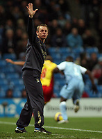 Photo: Paul Thomas.<br /> Manchester City v Watford. The Barclays Premiership. 04/12/2006.<br /> <br /> Stuart Pearce, manager of Man City.