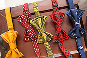 Classic Loot handmade bow-ties photographed at the pop-up stand at Westfield Valley Fair Mall in San Jose, California, on July 29, 2014. (Stan Olszewski/SOSKIphoto for Content Magazine)
