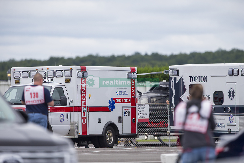 August 19, 2018 - Long Pond, Pennsylvania, United Stated - ROBERT WICKENS (6) of Canada gets airlifted to the hospital following a massive wreck during the opening laps of the ABC Supply 500 at Pocono Raceway in Long Pond, Pennsylvania. (Credit Image: © Justin R. Noe Asp Inc/ASP via ZUMA Wire)