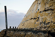 Detail featuring post and wall, Newcastle Ocean Baths, Eastern Australia Coast.