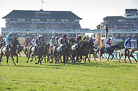 National Hunt Horse Racing - 2017 Randox Grand National Festival - Saturday, Day Three [Grand National Day]<br /> <br /> A false start before  the 5.15, the Randox Health Grand National  at Aintree Racecourse.<br /> <br /> COLORSPORT/WINSTON BYNORTH<br /> <br /> <br /> <br /> <br /> <br /> <br /> <br /> <br /> <br /> <br /> National Hunt Horse Racing - 2017 Randox Grand National Festival - Saturday, Day Three [Grand National Day]<br /> <br />  in the 1st race the 1.45 Gaskells Handicap Hurdle at Aintree Racecourse.<br /> <br /> COLORSPORT/WINSTON BYNORTH
