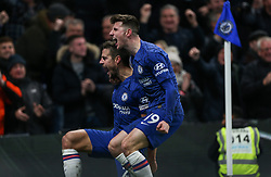 Cesar Azpilicueta of Chelsea celebrates scoring to make it 2-1 - Mandatory by-line: Arron Gent/JMP - 21/01/2020 - FOOTBALL - Stamford Bridge - London, England - Chelsea v Arsenal - Premier League