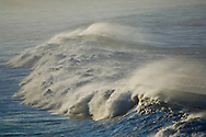 Ocean waves breaking near shore, San Mateo County coast, California