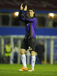Bristol Rovers' John-Joe OToole thanks the travelling support - Photo mandatory by-line: Joe Meredith/JMP - Tel: Mobile: 07966 386802 14/01/2014 - SPORT - FOOTBALL - St Andrew's Stadium - Birmingham - Birmingham City v Bristol Rovers - FA Cup - Third Round