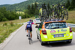 Diego Ulissi of Lampre-Merida during Stage 2 of 21st Tour of Slovenia 2014 - cycling race 160,7 km  from Ribnica to Kocevje, on June 20, 2014 in Slovenia. Photo By Vid Ponikvar / Sportida
