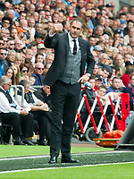 Football - 2017 / 2018 Premier League - Swansea City vs. Manchester United<br /> <br /> Swansea City manager Paul Clement on the touchline—<br /> , at Liberty Stadium.<br /> <br /> COLORSPORT/WINSTON BYNORTH