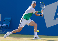 Tennis - 2017 Aegon Championships [Queen's Club Championship] - Day Three, Wednesday<br /> <br /> Men's Singles: Round of 16 _ Tomas Berdych (CZE) Vs Denis Shapovalov (CAN)<br /> <br /> Tomas Berdych (CZE) in action on the centre court at Queens Club<br /> <br /> COLORSPORT/DANIEL BEARHAM