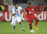 v.l. Hulk, Wendell (Leverkusen)<br /> Fussball Champions League, Gruppenphase, Bayer 04 Leverkusen - Zenit St. Petersburg<br /> <br /> Norway only