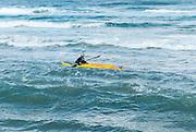 Kayak in the Mediterranean sea