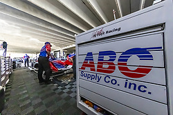 March 9, 2019 - St. Petersburg, Florida, U.S. - The AJ Foyt Racing crew prepare their race cars for a practice session for the Firestone Grand Prix of St. Petersburg at The Temporary Waterfront Street Course in St. Petersburg Florida. (Credit Image: © Walter G Arce Sr Asp Inc/ASP)