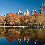 The Model Boat Pond, also known as the Conservatory Water, in Central Park, NYC