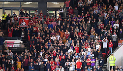 Bristol City supporters in the 'singing corner' at Ashton Gate Stadium - Mandatory by-line: Paul Knight/JMP - 13/10/2017 - FOOTBALL - Ashton Gate Stadium - Bristol, England - Bristol City v Burton Albion - Sky Bet Championship