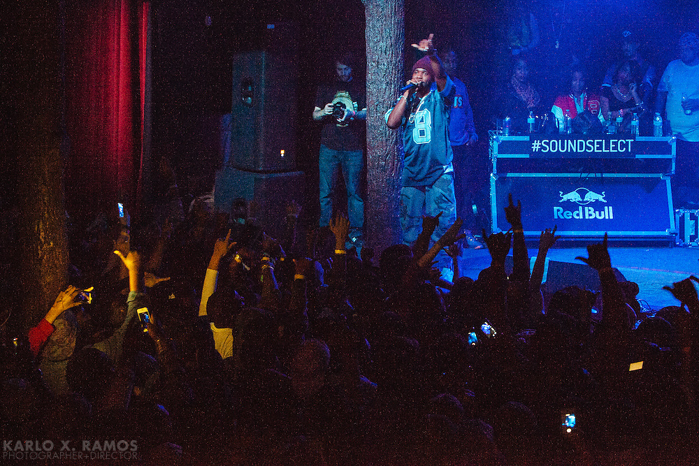 Curren$y performing at Trees as part of the Red Bull Sound Select in Dallas, Texas, USA, 12 Dec 2013.