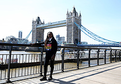 Ethiopia's Tirunesh Dibaba poses during the media day at Tower Hotel London.