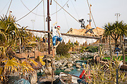Pirate themed children's attraction on the seafront, Great Yarmouth, Norfolk, England