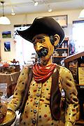 Paniolo (Hawaiian cowboy) shop mannequin. Waimea (also called Kamuela), Big Island, Hawaii