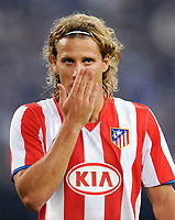 Fotball<br /> Spania<br /> 13.08.2008<br /> Foto: Witters/Digitalsport<br /> NORWAY ONLY<br /> <br /> Diego Forlan<br /> Fussball Spanien Atletico Madrid