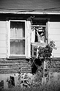 A house in a state of disrepair in Round Rock, Texas