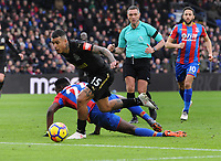 Football - 2017 / 2018 Premier League - Crystal Palace vs. Newcastle United<br /> <br /> Kenedy of Newcastle slips past Timothy Fosu - Mensah, at Selhurst Park.<br /> <br /> COLORSPORT/ANDREW COWIE
