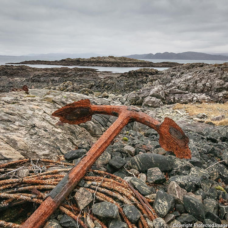 By the fishing huts, Arcasaid Bheag, Ardnamurchan, Highland, Scotland.