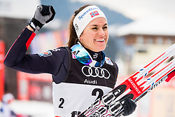 January 6, 2018 - Val Di Fiemme, ITALY - 180106 Heidi Weng of Norway celebrates the victory in the women's 10km mass start classic technique during Tour de Ski on January 6, 2018 in Val di Fiemme..Photo: Jon Olav Nesvold / BILDBYRÃ…N / kod JE / 160122 (Credit Image: © Jon Olav Nesvold/Bildbyran via ZUMA Wire)
